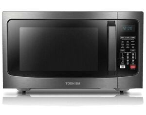 Toshiba EC042A5C-BS microwave oven, 1.5Cu.ft, Black Stainless Steel