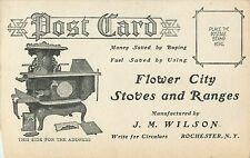 Advertising Postcard, Flower City Stoves & Ranges, Rochester NY