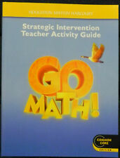 Houghton Mifflin Go Math! Strategic Intervention Teacher Activity Guide Grade 4