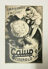 Pubblicità 1934 PANETTONE GALUP PINEROLO ITALY old advertising publicitè reklame