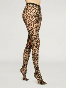 Wolford Josey Tights Stockings With Leo Print