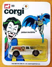 CORGI Juniors Batman JOKER Jokermobile Diecast Model Car & Repro 99 Blister Pack
