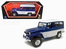 LUCKY DIE CAST 1:18 ROAD SIGNATURE 1955 WILLYS JEEP STATION WAGON CAR 92858BL