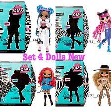 4 LOL Surprise Series 3 OMG Fashion Doll Class Prez Da Boss Roller Chick,Chillax