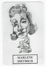 2006 Spanish Pocket Calendar US Movie Star Marlene Dietrich Caricature