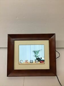 PHILIPS LED 5x6.5 Electronic Digital Picture Frame Dark Brown Wood SPF3408T/G7