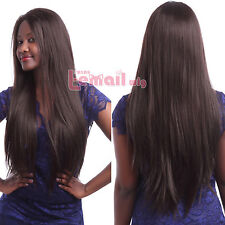 """Good Quality 20"""" Long Synthetic Straight #4 Brown Lace Front Wig LC03-C"""