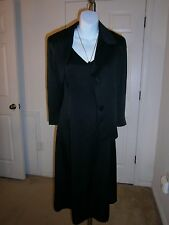 Max Mara Black Sleeveless Dress/ 3/4 Sleeve Jacket Separates As 2pc Suit Sz 42