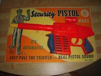 Another MARX Factory Stock M-240 Security Pistol Toy Gun with Display Card