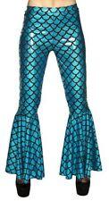 Ladies Mermaid Tail Flare Trousers Womens Fancy Dress Costume