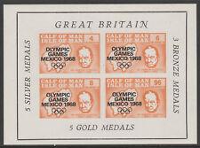IOM Pantorrilla De Man 6062-Juegos Olímpicos 1968 & Churchill M/Hoja de Menta desmontado