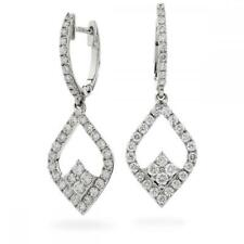 Diamond Drop Earrings 1.00ct F VS Brilliant Cut in 18ct White Gold