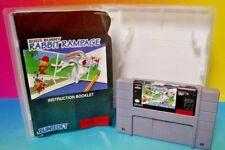 Bugs Bunny Rabbit Rampage  - SNES Super Nintendo Rare AUTHENTIC w/ Manual