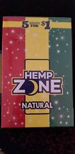15 Pack Hemp Zone Natural-75 Wraps Rillo Size with Free Tube & Scoop Card