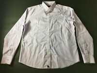 Untuckit Mens Purple Plaid Front Pocket Button Front Shirt Size Large