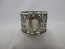 Antique Chinese export silver napkin ring, Hallmarked Wing on & CO HONG KONG