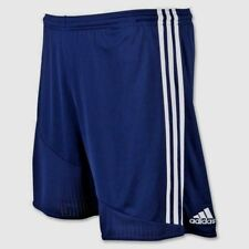Mens Adidas Soccer Casual REGISTA 16 ClimaCool 3 Stripes Navy White Shorts SMALL