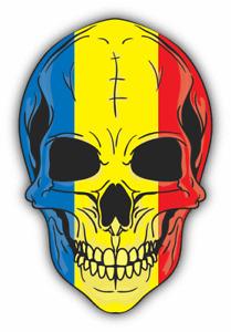 "Skull Flag Romania Car Bumper Sticker Decal  ""SIZES''"