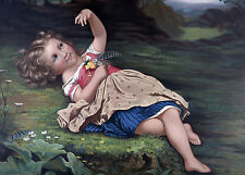 """perfact 36x24 oil painting handpainted on canvas """"a little girl""""@NO3661"""