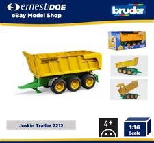 Bruder Toys 2212 Joskin Tipping Grain Trailer Tri-Axle - Genuine Bruder