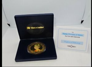 Westminster Mint - Cased Diana Princess Of Wales 5oz Cook Islands $5 Coin & COA