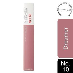 Maybelline Superstay Lipstick Matte Ink Longlasting Nude, 10 Dreamer 5ml
