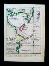 1747 BELLIN - Original rare map of AFRICA, MOZAMBIQUE, MAPUTO, MALAWI, AFRIQUE..