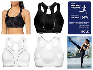 Shock Absorber ULTIMATE RUN BRA Sports Bra Black / White S5044 Gym Womens BNWT