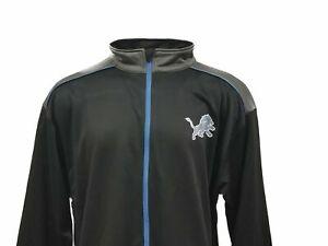 Detroit Lions Men's NFL Majestic Full Zip Track Jacket Big & Tall 2XLT
