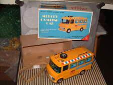 YONEZAWA PLASTIC & TIN BATTERY OPERATED MELODY CAMPING CAR. WORKING W/BOX YELLOW