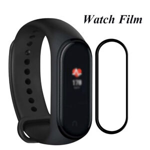 2 x For Mi Band 5/6 Smart Watch Curved Film Full Cover Screen Protector Black