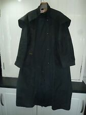 Men's Navy Blue Waxed Cotton Trench Coat by Driza-Bone Size M