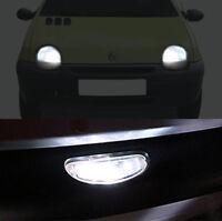 3 ampoules à LED blanc feux de position + feux de plaque pour Renault Twingo 1