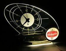 Vintage 1964 Schaefer Beer Lighted Bar Clock Atomic Sailboat Space Age Display