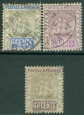 EDW1949SELL : BRITISH GUIANA 1905-10 Scott #164, 65, 67 All VF, Used. Cat