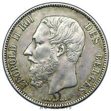 5 francs 1871 Léopold II Belgique TTB+ - Argent [10.190]