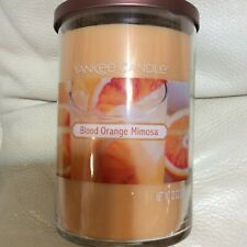 Yankee Candle Blood Orange Mimosa Large Tumbler 22oz 2 Wick NEW! Tropical Summer