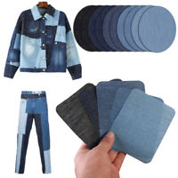5/10pcs Repair Sticky Iron Clothes Iron On Jeans Denim Elbow Patches Sewing