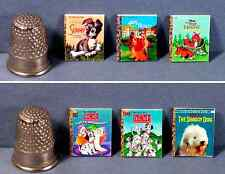 Dollhouse Miniature 1:12  Set of 6 Little Golden Books  Disney Dog Covers  puppy