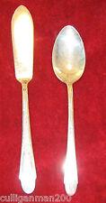 1 - Wm Rogers & Sons Gardenia 1941 Tea Spoon & Master Butter Knife (2016-024)