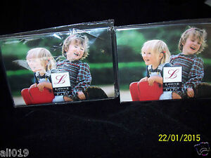 """Lawrence Frames Clear Acrylic 5"""" X 3.5""""  Set of 2 Tabletop Display"""