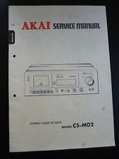 ORIGINALI service manual AKAI cs-m02