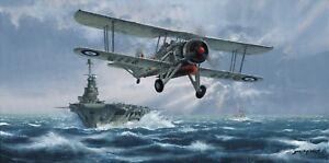 Ltd Edition Aviation Print Flight Against the Bismark by Philip E West Swordfish