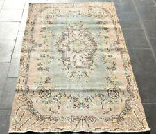 Cappadocia Bohemian Carpet Anatolian Handmade Traditional Beige Wool Rug 4x7 ft.