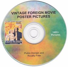 Foreign Movie Poster Images! - 1600+ public domain and royalty free images on CD