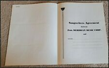 CLYDE OTIS LEGENDARY AFRICAN AMERICAN SONGWRITERS AGREEMENT SIGNED PRODUCER