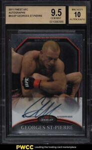 2011 Finest UFC Georges St-Pierre AUTO #AGSP BGS 9.5 GEM MINT