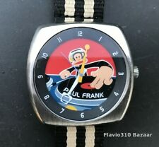 Very Cool PAUL FRANK DJ Watch PF1039 Stainless Steel 42mm watch - New Battery