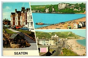 Postcard Seaton Devon 3 views posted 1976