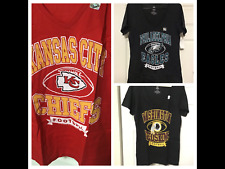 NFL FOOTBALL Shirt Chiefs Eagles Redskins Tee Womens Size  Large